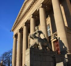 Teatr Wielki - zbliżenie na fasade