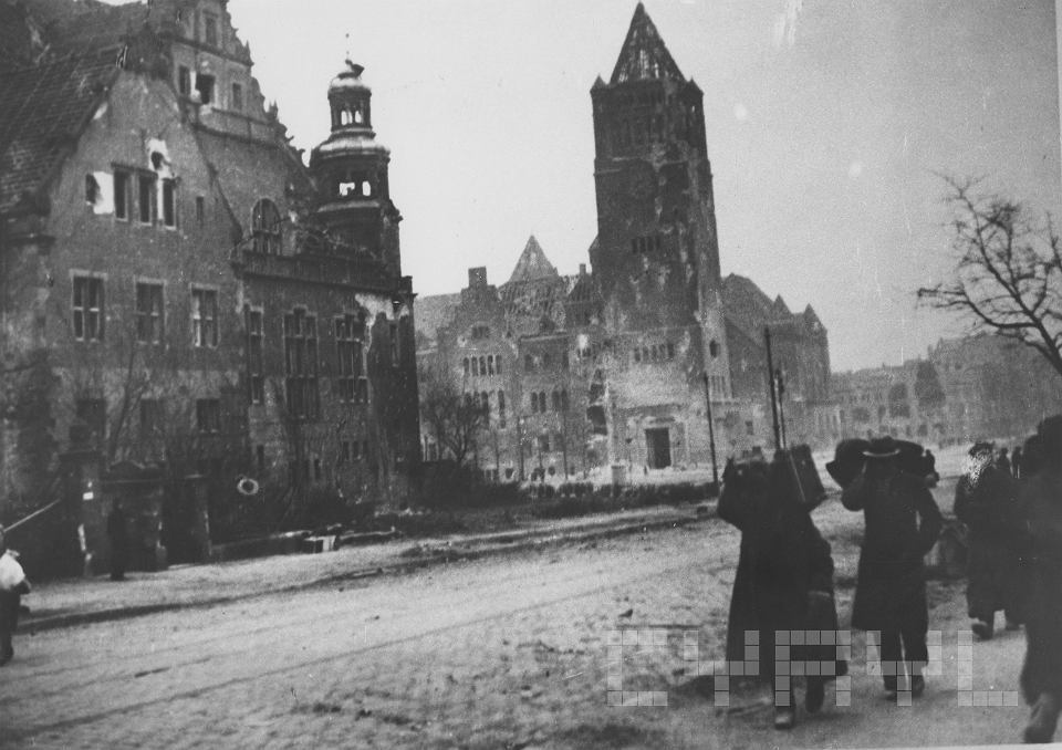 Zniszczona na skutek wojny dzielnica cesarska